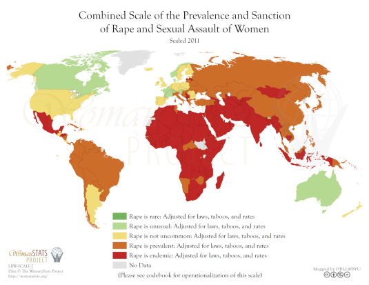 Combined Scale of the Prevalence and Sanction of Rape and Sexual Assault of Women